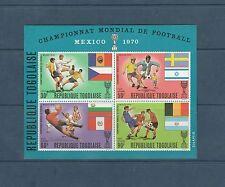 Togo bloc  coupe du monde de football  de 1970   num:  44   **