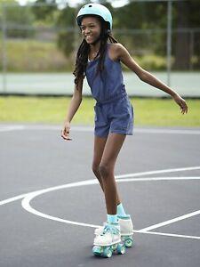 Athleta Girl Swept Away Blue Explore More Shorts Romper NWT Sz. XXL XX-Large 16