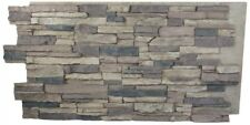 Faux Stone Wall Panel Rustic Lodge Stack Brick Indoor Outdoor Siding Material