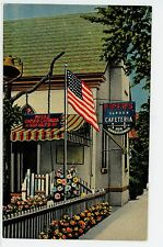 Piper's Garden Cafeteria—Madison WI Vintage Linen—Restaurant PC American Flag