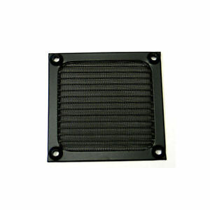80mm Anodized aluminum fan filter/guard (Black)
