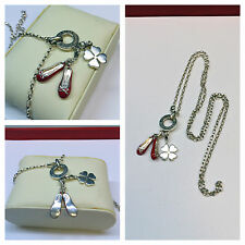 Silberkette mit charms Anhänger Ballerinas und Kleeblatt von THOMAS SABO 925 er