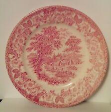 Vintage-ENGLISH IRONSTONE-Vaisselle Kingswood Rose Dinner Plate