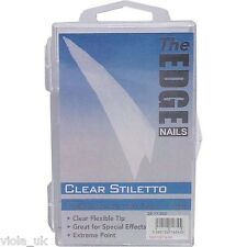 The Edge Acrylic Nail Tips Boxof100 Assorted Tips Entire Range UV Gel Fiberglass