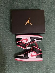 FREE SHIPPING! Air Jordan 1 Mid 'Very Berry' Size 7Y (GS) (554725-016) IN HAND!