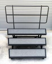 WENGER SIGNATURE 3 STEP CHOIR CHORAL STAGE RISERS w/ BACKRAIL - $1450.00 LIST