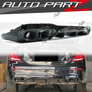 E53 Optik Heck Diffusor + Auspuffblenden für Mercedes Benz W213 S213 AMG Line