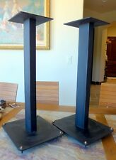 audio speaker stands, a pair, in particularly fine condition  ~ all metal
