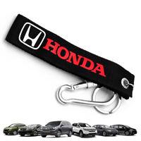 Keychain Street Strap Keyring Tag Black Red For Honda Civic Accord Jazz 2000 18