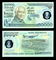 INDONESIA 50,000 50000 RUPIAH 1993 P 134 POLYMER UNC