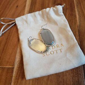 Kendra Scott Iridescent Slate Earrings silver