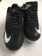 Nike Air Bsbl Size 8.5 Cleats Metal Mvp Black White Sport Shoes Nwob 684685– 010