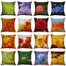 Flower Pillow Case Cotton Linen Plant Sofa Cushion Cover Throw Home Decor