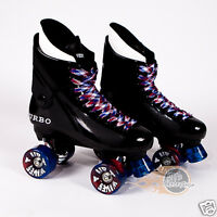 Ventro Pro Turbo Quad Roller Skates, Bauer Style - Red Blue