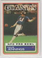 1983 Topps Football New York Giants Team Set (16 Cards)