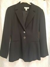 Ann Taylor 100% wool 2 button black lined  career quality Blazer size 4