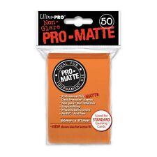 50 PRO MATTE DECK PROTECTORS Orange Arancione MTG MAGIC Ultra Pro