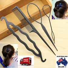 4Pcs Ladies Girls Hair Twist Styling Hair Clip Stick Bun  Braiding Set