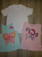 Girls bundle of 3x t-shirts H&M, Nutmeg summer tops Butterfly Sweet age 4-6years