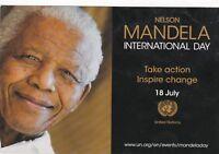 RARE NELSON MANDELA International day United Nations UN advert postcard
