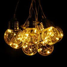 Warmweiß 6M 125 LEDs Lichterkette Außen Weihnachten Beleuchtung Garten Party