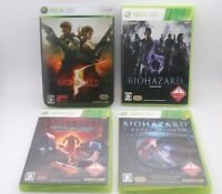XBOX 360 BIOHAZARD 5 , 6 , Raccoon City & Revelations 4Games Japan Resident Evil