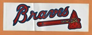 Atlanta Braves Bumper Sticker 1990's Era