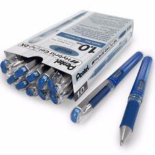 Pentel Hybrid Gel Grip Metallic Pen – 1.0mm Rollerball –Metallic Blue –Box of 12