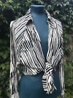 Opi Zebra Vintage 80s Roman Originals Ladies Oversize Shirt Size 10 Fits 10-14