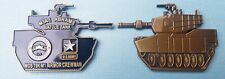 """2"""" M1A1 ABRAMS BATTLE TANK MOS 19K M1 ARMOR CREWMAN STUBBIES Challenge Coin  109"""