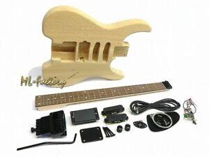 E-Gitarren-Bausatz/Guitar Kit ML-Factory® Headless Headless Esche