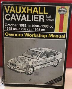 Vauxhall Cavalier MK3 Haynes Manual 1988 to 1992  Petrol GSi SRi CD CDi