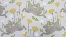 Clarke and Clarke March Hare Linen Curtain Upholstery Craft Designer Fabric