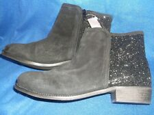 LADIES ANKLE BOOTS...NEXT...SIZE 7...BLACK WITH GLITTER...LOW BLOCK HEEL..NWT