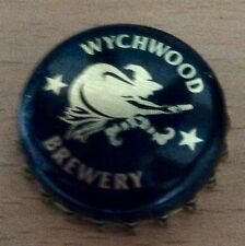 Wychwood brewery witch on broomstick bottle cap bottle top pin badge, new