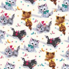Michael Miller fabric Retro KITTIES-yards