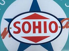 SOHIO - STANDARD OIL COMPANY OF OHIO porcelain coated 18 GAUGE steel SIGN
