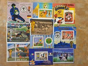 Football  -  10 mini/ souvenir sheets set 3