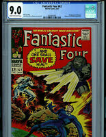 Fantastic Four # 62 CGC 9.0 Marvel Comic 1st Blastaar Amricons K19