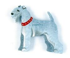 Wooden Dog Magnet Kerry Blue Terrier #294 Hand Painted Classic Dandy Design New