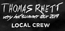 Thomas Rhett Very Hot Summer Tour 2019 Local Crew T-Shirt Never Worn Xl