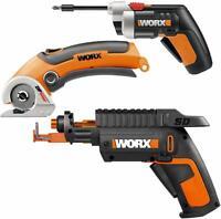 WORX WO7037 XTD Cordless Xtended Reach Driver, Screwholder SD & ZipSnip