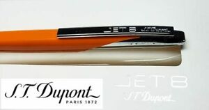 New S.T. Dupont JET 8 Spicy Orange 444104 Ballpoint Pen + Case