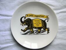 assiette ancien de saint-amand-les-eaux LE PETIT RAPPORTEUR TF1 elephant