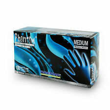 10 boxs. Adenna Phantom Latex PF exam gloves. Sz: MEDIUM, Black. TATTOO SALON