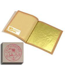 100 pcs 24 Karat Edible Gold Leaf for Cooking, Art, Framing, Gilding AUTHENTIC