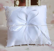 Beautiful 15*15cm White Lace Ring Pillow Bearer Cushion for Wedding Home121 S8