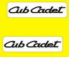 PAIR OF CUB CADET GARDEN TRACTOR DECALS ON WHITE