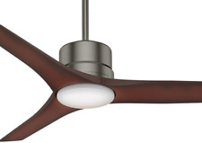 """Casablanca 52"""" Piston Brushed Slate Outdoor Damp Rated Remote Ceiling Fan 59195"""