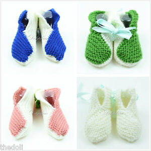 Wholesale Lots 4 boxes Crochet baby booties shoes New Baby girl / boy 3-6 Months